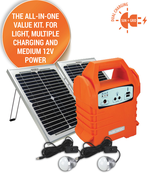 ... Portable Solar Power Kit. ECOBOXX 160 DC